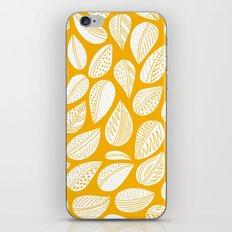 Yellow leaf iPhone & iPod Skin