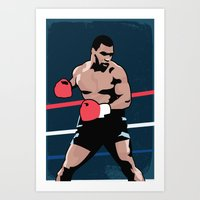 mike tyson Art Prints featuring Mike Tyson Poster by Marco A. Valdez