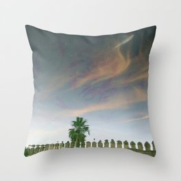 Flying sky fish Throw Pillow