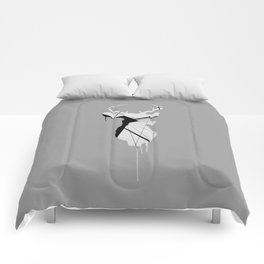Deer Head V (Brooklyn Bridge) Comforters