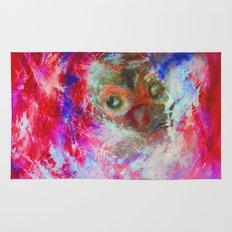 Abstract Owl Rug