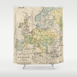 Vintage Map of Europe (1905) Shower Curtain