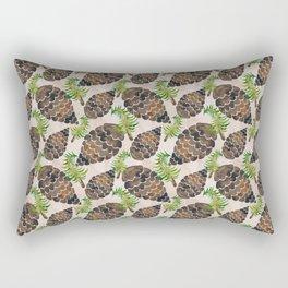 Watercolor Pine Cone Pattern Rectangular Pillow