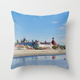 Winter at The Del Throw Pillow