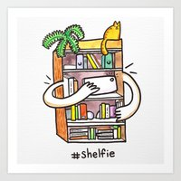 Shelfie Art Print! Art Print