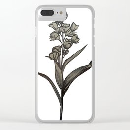 Snapdragon Illustration Clear iPhone Case
