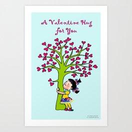 Valentine Hug Art Print