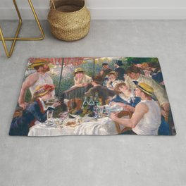 Luncheon of the Boating Party, 1880-1881 by Pierre-Auguste Renoir Rug
