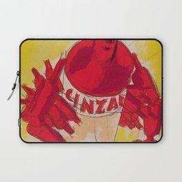 Vintage Cinzano Aperitif Cinzanonino Advertising Poster Laptop Sleeve