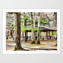 Pavilion at Cheaha state park Art Print