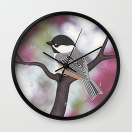 Wiley the black-capped chickadee Wall Clock