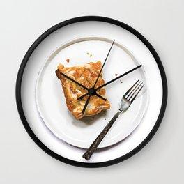 Caramel Pear and Nectarine Slab Pie Wall Clock