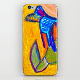 Cave Dog on Orange Wall iPhone Skin