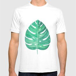 Monstera Leaf #2 | Watercolor Painting T-shirt