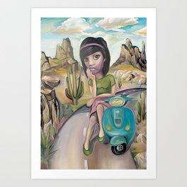 Lost road Art Print
