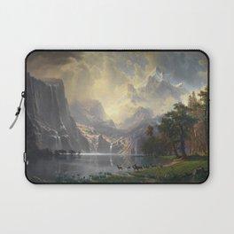 Among the Sierra Nevada California by Albert Bierstadt, 1868 Laptop Sleeve