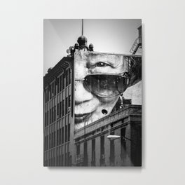 Downtown Los Angeles building face Metal Print