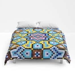 Colorful Tiles Comforters