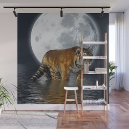 Moonlite Night Tiger Wall Mural
