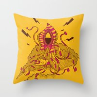 kraken Throw Pillows featuring Kraken! by Popnyville