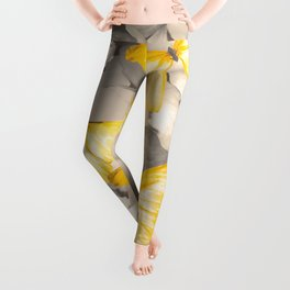 Yellow Butterflies on Dark Floral Background #decor #society6 #buyart Leggings