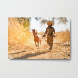 wrangles the stray Metal Print