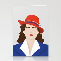 agent carter Stationery Cards featuring Agent Carter Vector by Missiieey