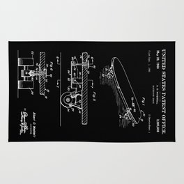 Skateboarding Patent Rug
