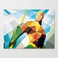 dc comics Canvas Prints featuring DC Comics Aquaman by Eric Dufresne