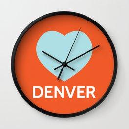 Denver Love Wall Clock