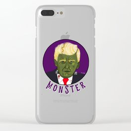 Trumpensteins Monster Halloween Scary Trump Clear iPhone Case