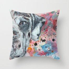 Harle Great Dane Throw Pillow