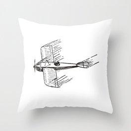 Plane Vintage Throw Pillow