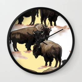 Roaming the Plains Wall Clock