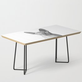 Black and White Sphynx Cat Coffee Table
