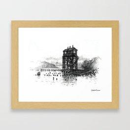 Pier I Gantry, Hudson River Framed Art Print