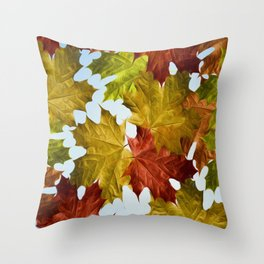 Autumn Leaf Brite Throw Pillow