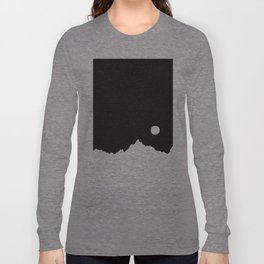 Mountain Sky Night Long Sleeve T-shirt