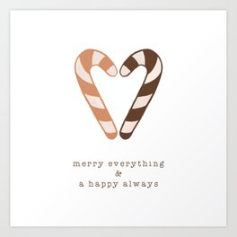Merry Everything, Happy Always, Christmas Candy Art Print