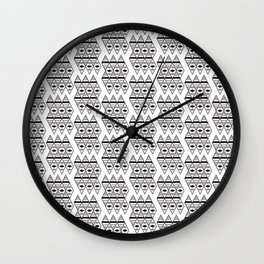 triangles in space Wall Clock
