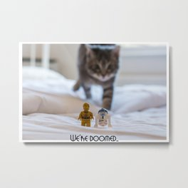 We're Doomed... (wide) Metal Print