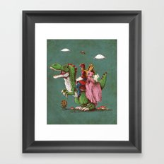 historical reconstitution Framed Art Print