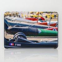 sport iPad Cases featuring chars à voile, sport by Sébastien BOUVIER