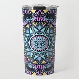 Blue Bohohemian Pattern Travel Mug