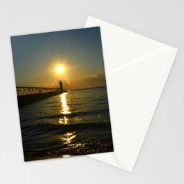 Manistee at Sundown Stationery Cards