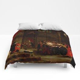 "Eugène Delacroix ""Les Deux Foscari (The Two Foscari)"" Comforters"
