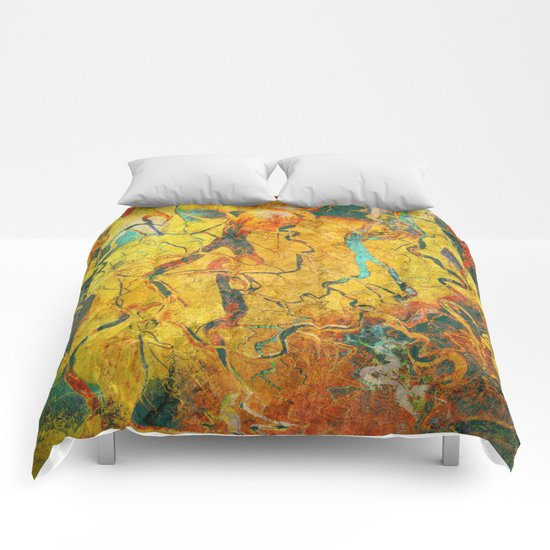 Cave Drawing Comforters
