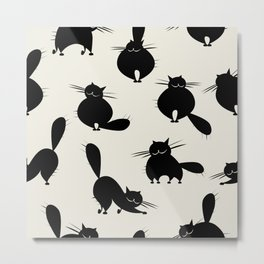 Funny big cats, seamless pattern for your design Metal Print