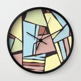 Broken glasses pattern Wall Clock