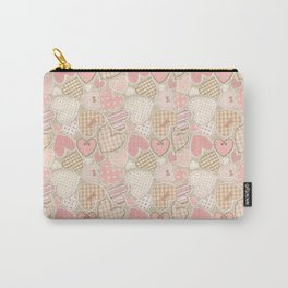 Patchwork Hearts Pattern Carry-All Pouch